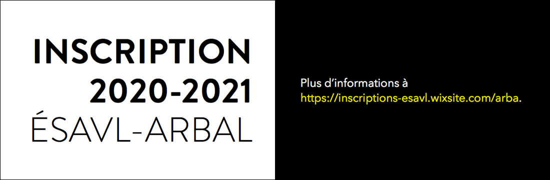 INSCRIPTION-2020-2021-Inscription-ÉSAVL-ARBAL-1100x361